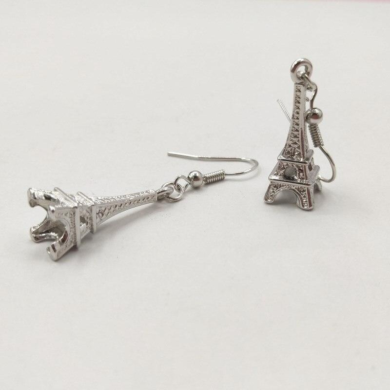 Eiffel Torre de Prata Banhado Brincos, Presente do Dia Das Mães, Aniversário Temático Francês Jóias Presentes, França Inspirado