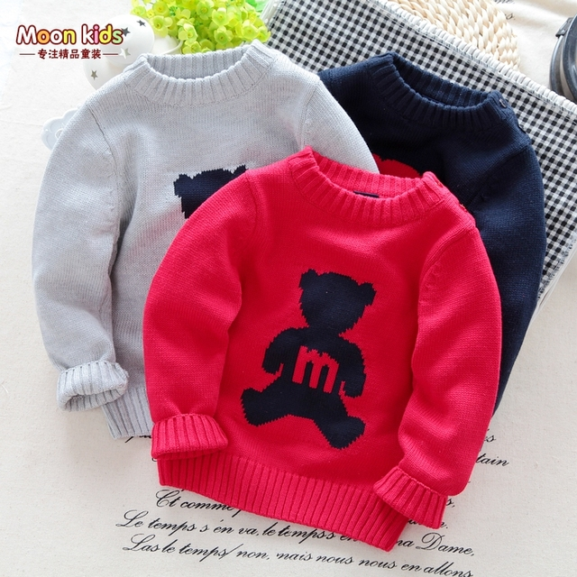 Free shiping 2015 autumn child long-sleeve pullover sweater children cotton thread knitted sweater