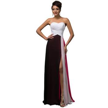 Charming Colorful Pageant Dress Sweetheart Long Formal Evening Dresses Gown