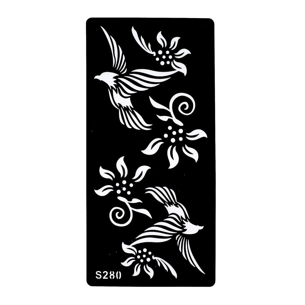 aliexpress com buy 6 sheets tattoo henna stencil paper bird