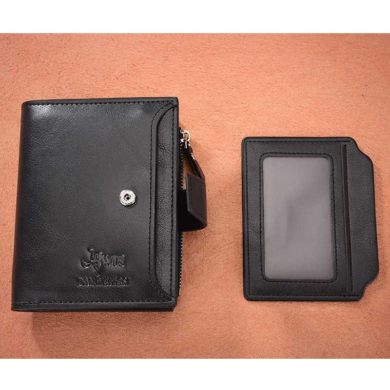 Dwts homens do vintage carteira de couro do plutônio carteiras curtas masculino multifuncional bolsa moeda bolso carteira motorista titular da licença