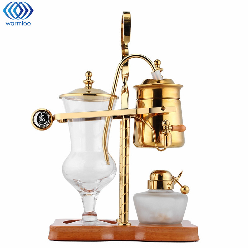 Drop Royal Balancing Siphon Coffee Machine Golden Belgium Coffee Maker Alcohol Lamp Siphon Vacumm Coffee