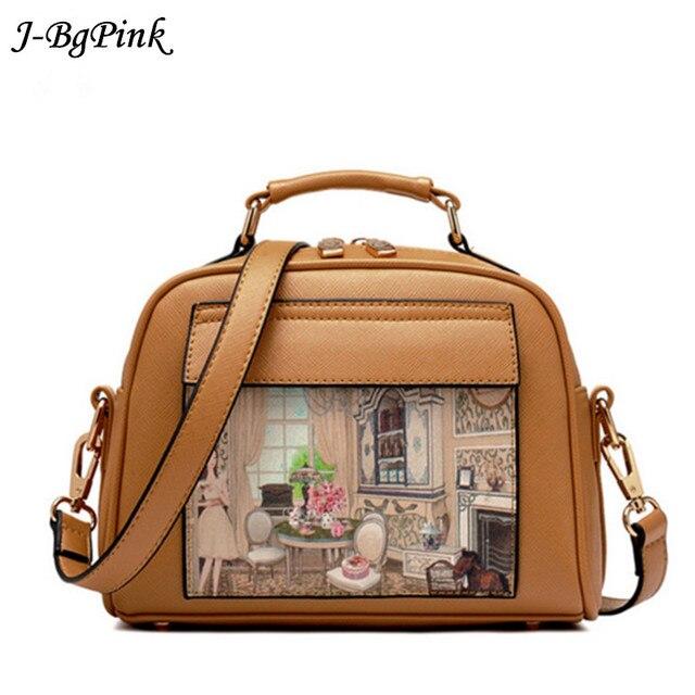 painting Women's Handbag Doodle Pattern Oil Picture Women's Messenger Bag Shoulder Bag Crossbody Ladies Handbag Top-Handle Bag