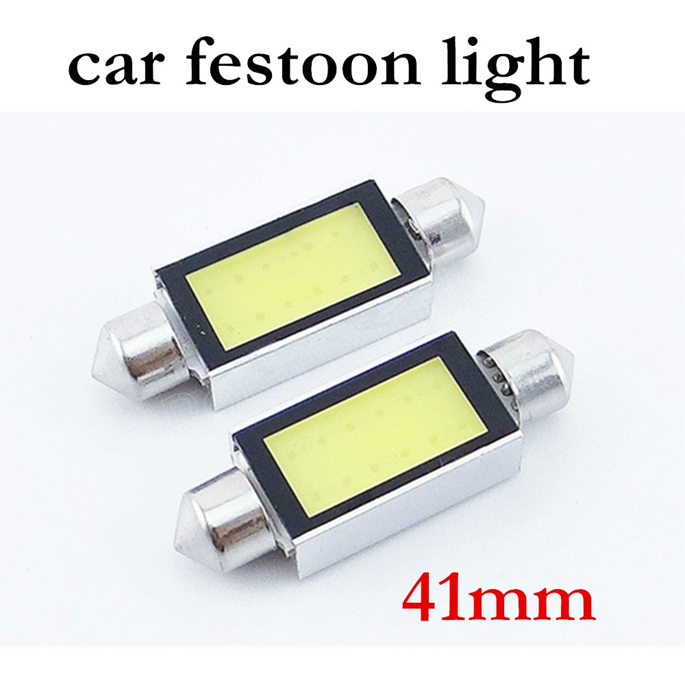 best price sale Car Led F-estoon 41MM 1W Car COB Bulbs Interior Dome F-estoon Lights White 12V 13Pieces