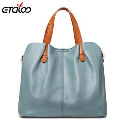 Из натуральной кожи Для женщин сумки Высокое качество модная дамская сумка Твердые Цвет топ-ручка сумка