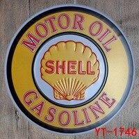 Motor Oil Shell Gasoline Bar Pub Garage Wall Decor Tin Plates Shabby Chic Home Decor Metal Signs Irregular Plaque Signs