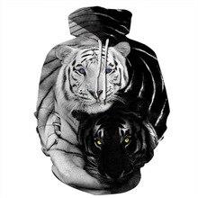 2019 Men/Women Classic Style Fashion 3d Hoodies Double Tiger Sweatshirts Print Hooded  harajuku streetwear