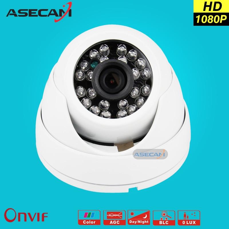 New HD IP Camera 1080P Security Small indoor white Mini Dome Surveillance Camera CCTV IR Night Vision Onvif WebCam ipcam zea afs011 600tvl hd cctv surveillance camera w 36 ir led white pal