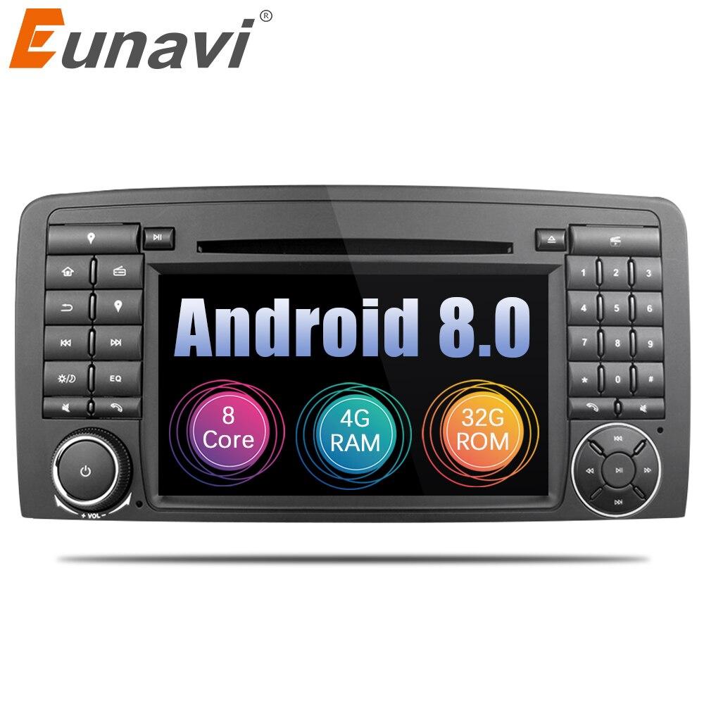 Eunavi Восьмиядерный Android 8,0 автомобиль DVD для Mercedes Benz R Class