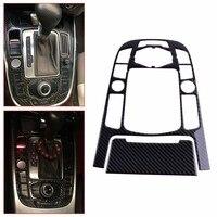 CITALL Car Carbon Fiber Strip Gear Shift Control Center Panel Ashtray Cover Trim Fit for Audi A4 A5 2009 2010 2011 2012 2015