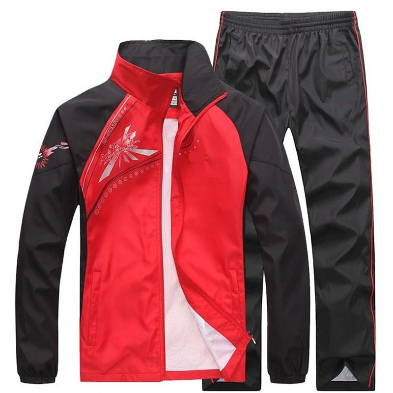 Men Sets Clothing New Casual Sportswear Tracksuits Sweatshirt Sets Gyms 2PCS Jacket+Pants Male Spring Autumn Suits Plus Size 5XL