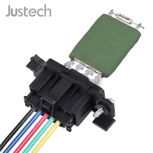 Justech 13248240 Heater Blower Motor Fan Resistor With Wiring Harness For Vauxhall Opel Corsa Fiat Punto 12V Car Heater Resistor цена