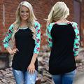 Camisetas Mujer 2017 Осенняя Мода Женщины Повседневная Футболки Плюс Размер Женщин футболки Печать о-Образным Вырезом Blusas Femininas Tee Shirt