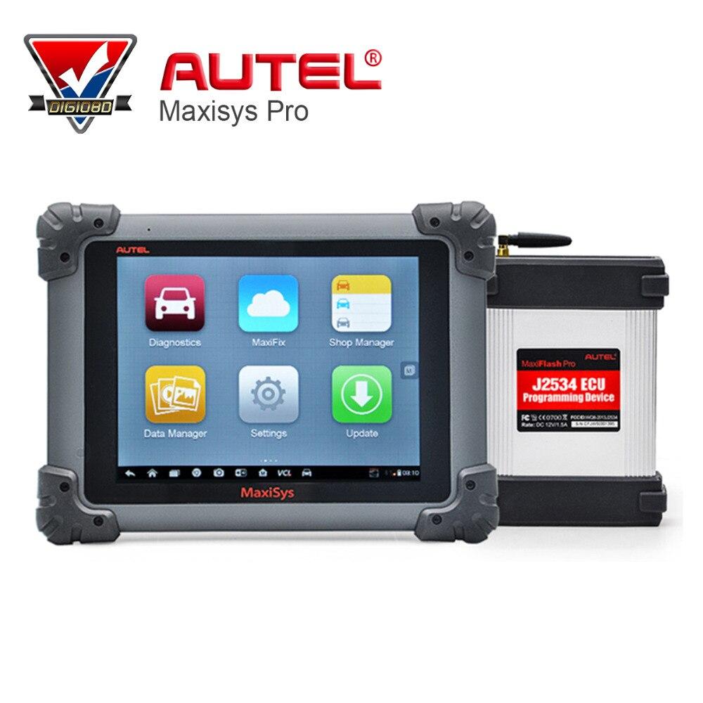 Цена за Autel MaxiSys Pro MS908P диагностики/ЭКЮ кодирования программирования Системы с J2534 VCI бесплатный онлайн обновление Мути язык