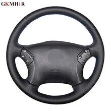 GKMHiR Protector de cuero Artificial para volante de coche, protector de cuero Artificial para volante de coche, para Mercedes Benz W203 Clase C 2006 2011