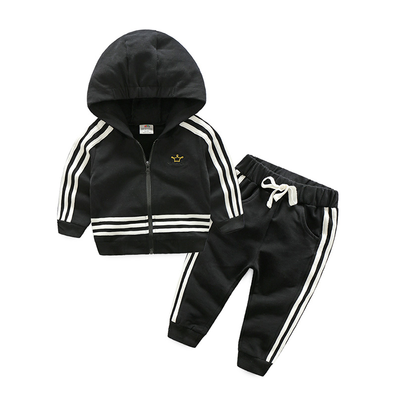 Baby Girl's Sports Clothing Set Spring Autumn Children's Clothes = Girl Casual Hoodies + Long Trousers Pants 2017 new style spring autumn hoodie baby girl clothing set sequin lace long sleeve velour sports jacket long trousers outfits