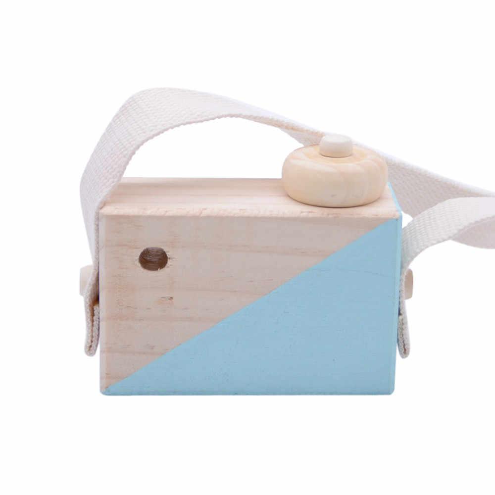 Śliczne Nordic wiszące drewniane aparat dla dzieci pokój elementy dekoracyjne dla prezenty urodzinowe dla dziecka drewniane nordic dekoracji domu