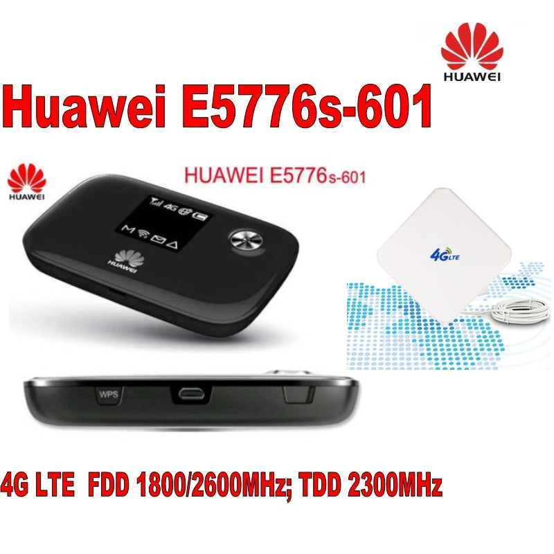 Unlock Huawei E5776s-601 4G LTE FDD TDD Wireless Router 150M Wifi Modem Hotspot plus 4g antenna 35dbi new unlock huawei e5776s 601 4g lte fdd tdd wireless router 150m wifi modem indoor new 4g lte mimo antenna 49dbi