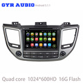 quad core 1024*600 screen Android 5.1 Car dvd stereo GPS navigation player For hyundai TUCSON IX35 2015 2016 with WIFI 3G radio