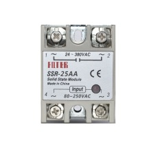 цена на Single Phase SSR Solid State Relay SSR-25AA 25A AC Control AC Solid State Relay AC relay