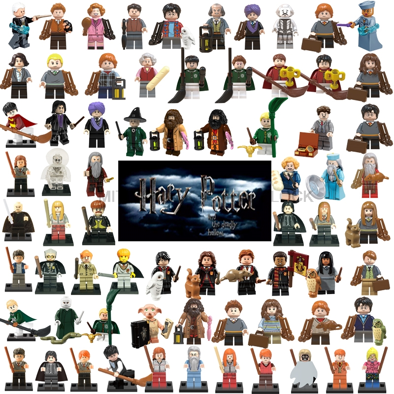 Legoings Harry Potter Figure Fantastic Beasts Rubeus Dobby Hagrid Seamus Finnigan Hermione Moody Building Block Friends Gift Toy