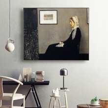 Laeacco Canvas James Abbot McNeill Whistler Painting Calligraphy Wall Art Classic Picture Posters Prints Home Decor Living Room цены онлайн