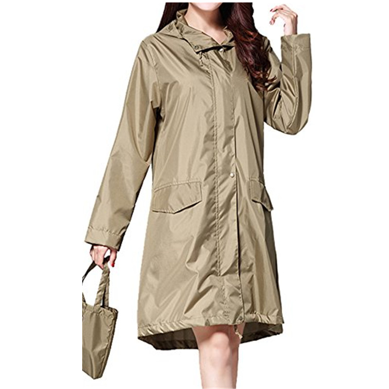 61f117225d32 US $19.16 31% OFF|Long Raincoat Women waterproof windproof hood, ladies  thin Rain Coat Ponchos Jackets Female Chubasqueros Mujer capa de chuva-in  ...