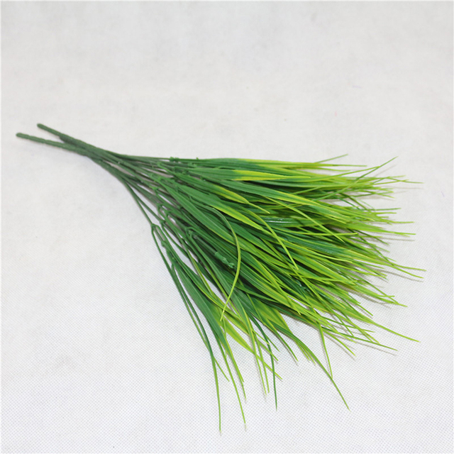 7 Fork water grass Eucalyptus Plastic Artificial Plants Green Grass plastic flower Plant Wedding Home Decoration Table Decors 5