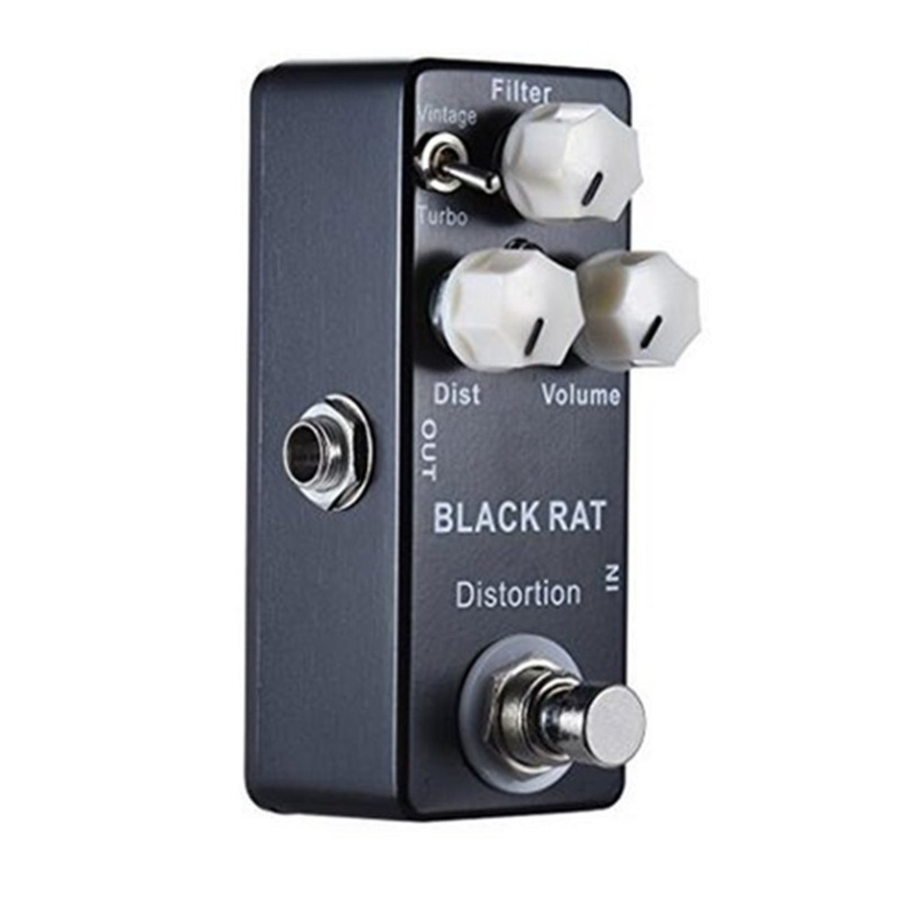 Guitar Pedal Effect Compressor Mini Electric Bass Guitar Effects True Bypass Musical instruments BLACK RAT