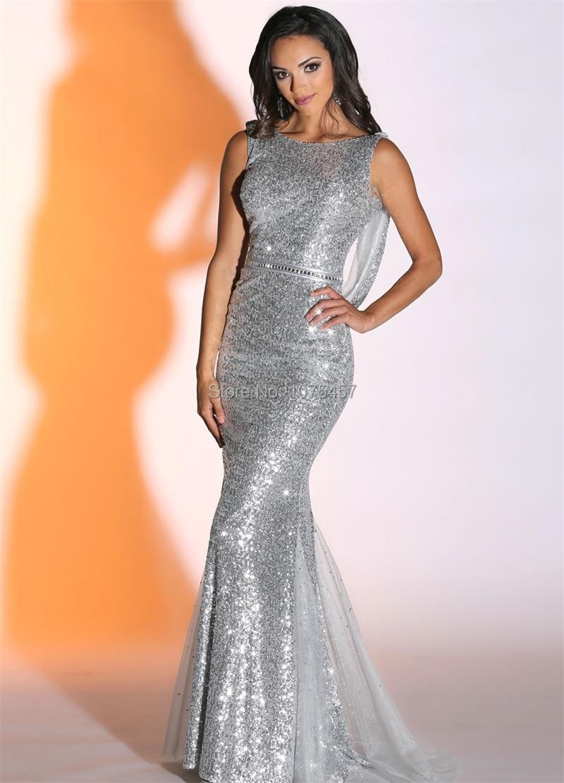 Popular 2015 Silver Mermaid Prom Dress-Buy Cheap 2015 Silver ...