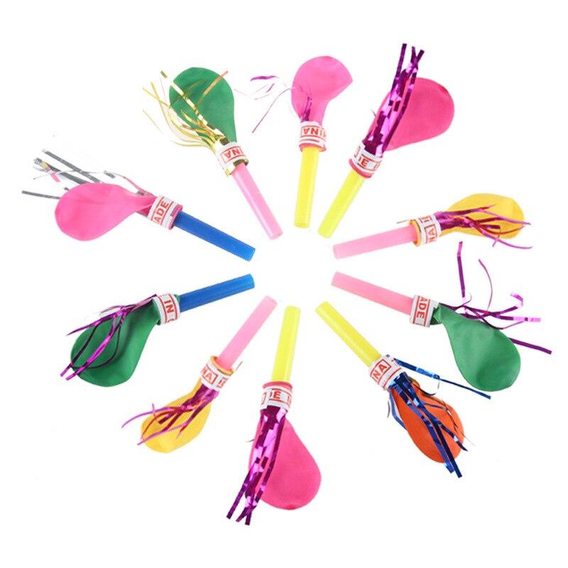 100 Pcs Bunte Reifenplatzer Whistle Blowing Drache Mit Ballon Kinder Baby Spielzeug Für Kinder Geburtstag Party Dekoration Spaß Geschenke Noch Nicht VulgäR