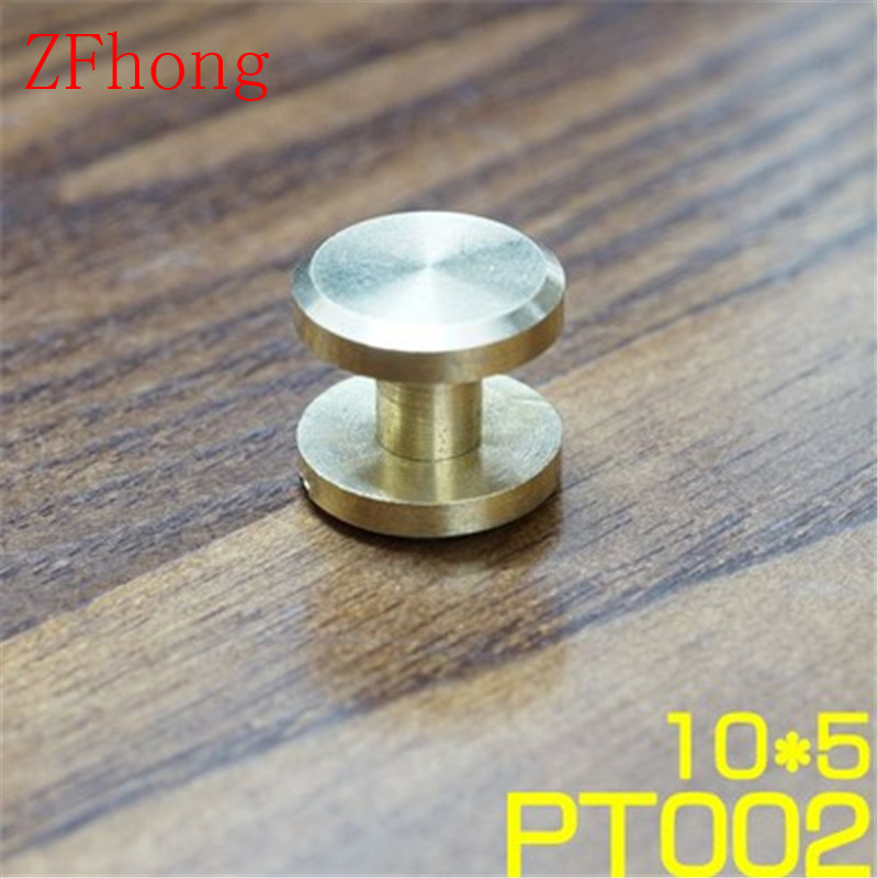 FB10X13 10*13mm Solid Brass Rivet Chicago Screw for Leather Craft Belt Wallet  Flat Head