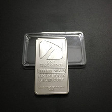 100 Pcs Non Magnetic The Pan American 1 OZ silver plated ingot badge 50 mm x 28 souvenir collectible coin bar