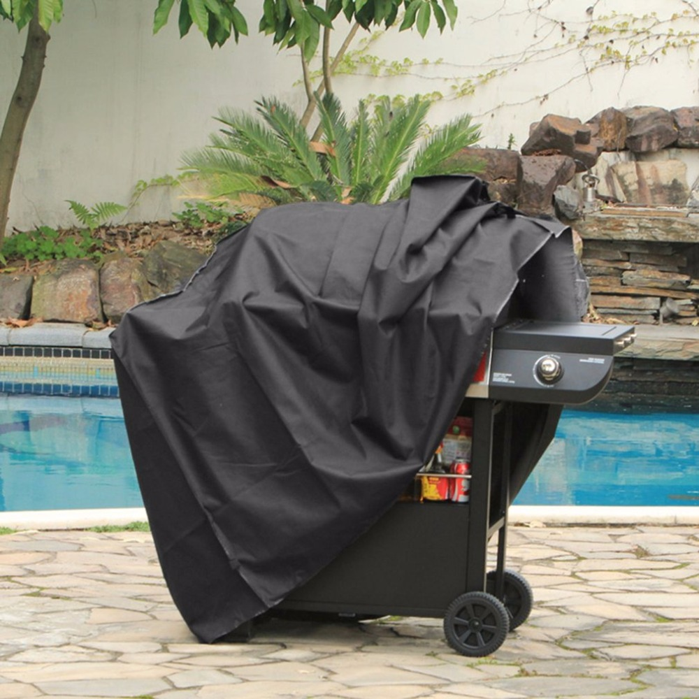 190T Polyester Waterproof BBQ Cover Outdoor Storage Rainproof For Gas Barbecue Grill Large Anti-dust Protective Cover