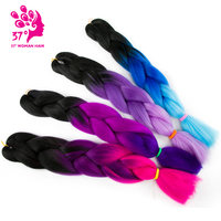 Ombre Jumbo Braids Hair Synthetic Braiding Hair Extensions 2Pcs Lot 24 Inch High Temperature Fiber Crochet