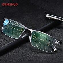18c2375c5 ISENGHUO Ajustável Visão Bifocal Photochromic Transição Progressiva Óculos  De Leitura Multifocal Óculos UV400 Sol glasse
