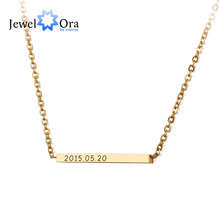 Personalized Name Stainless Steel Bar Necklaces