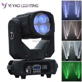4x25 W LED 130 W Super Beam luces de cabeza móviles Spot Zoom DMX 9/15CH para decoraciones de fiesta de boda de escenario de discoteca
