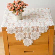 Senhot Hollow Out Lace Table Covering Cloth 60x60cm Small Kitchen Living Room