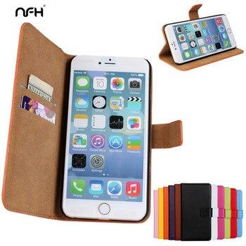 daac0ec54ab NFH funda para teléfono con Tapa de cuero Retro 4 4 S 5 SE para iPhone 5S  con cierre magnético celular para iPhone 4S negro rosa