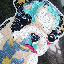 Hairball Puppy Sequins Embroidery Apparel