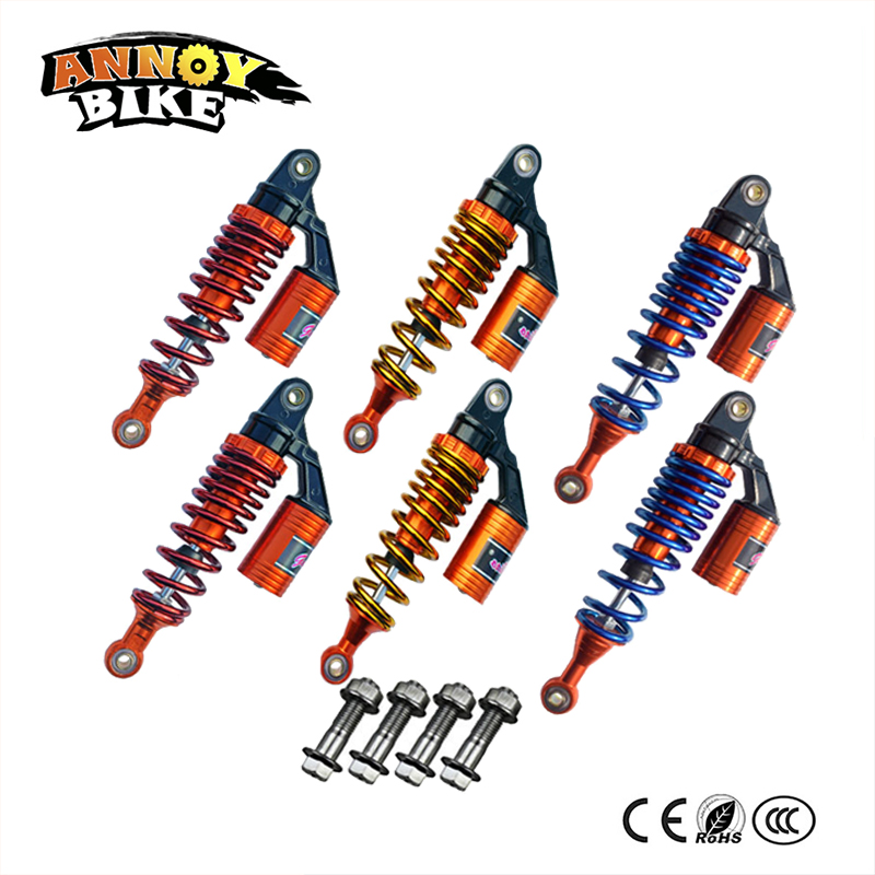 250mm 270mm 290mm 310mm Adjust damping Nitrogen Shock Absorbers Rear Suspension For Electric Motorcycle Scooter Harley Scooter forging double damping adjustable shock absorber damping nitrogen cylinder suitable for motorcycle modification