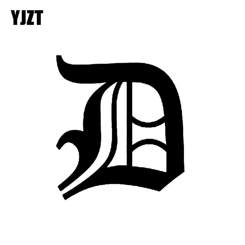 Yjzt 12 9cm 14 5cm Fashion Old English Lettering D Vinyl Car Sticker Decal Black Silver Accessories C11 0470 Car Stickers Aliexpress