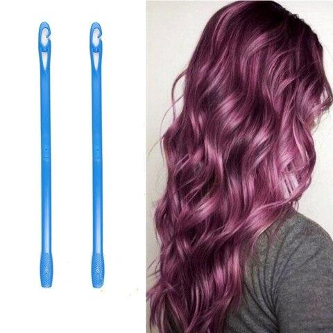 20 pcs set 65cm plastico longo diametro 2 5 centimetros magia modelador de cabelo rolo