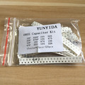 Free shipping 0805 SMD Capacitor assorted kit ,16values*20pcs=320pcs 10PF-22UF Samples kit