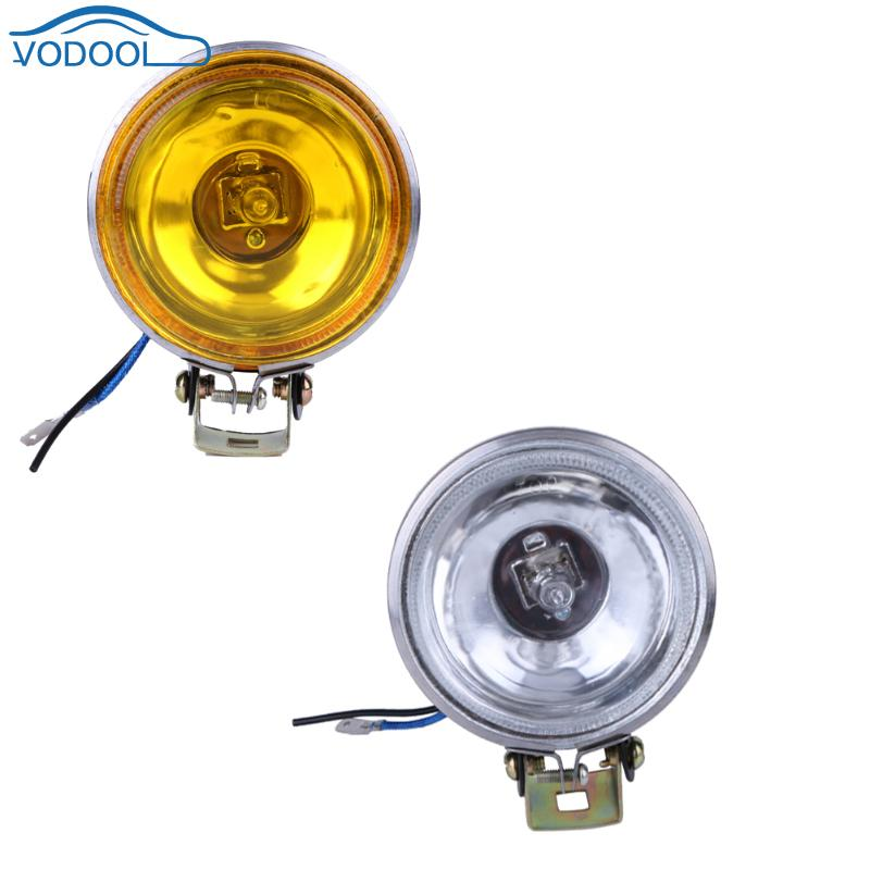 12V 55W Car Fog Light Working Light Lamp 3inch Round  Car Side Lights Reversing Light White Yellow Car Accessaries lyc 3 5  round fog lamp yellow for