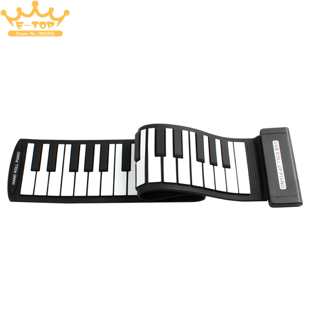 MD49 Flexible Mini 49Keys MIDI Keyboard Electronic Roll Up Piano for Children