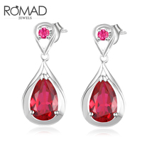 Newest Water Drop Design Top Quality Earrings Red Cubic Zircon Jelly Drop Earrings for Women Boucle D'oreille Pendientes Mujer