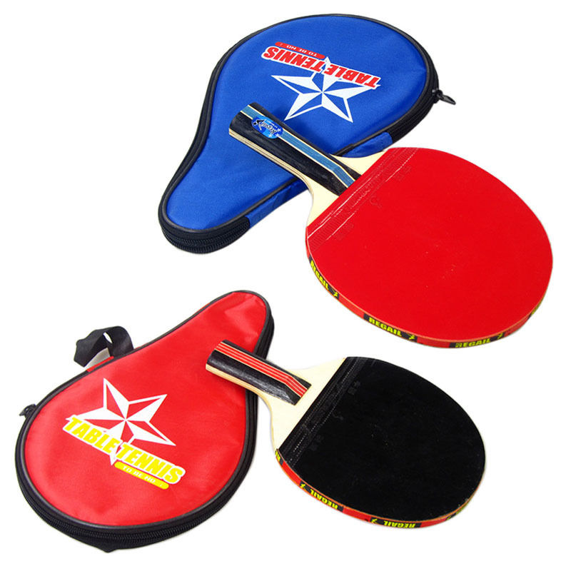 Sale Original 1 Set Table Tennis Racket Pingpong Paddle Bat Case Bag Outdoor Sport Games