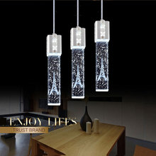 Led restaurante lámpara colgante 3 cabezas colorido Alfie torre colgante comedor luz colgante de cristal moderna lámpara de personalidad